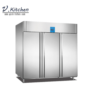 produce refrigerator freezer commercial solid & glass 3 door upright cabinet GN series 2100liter