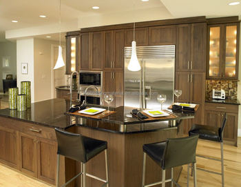 Custom made Australia style walnut shaker kitchen