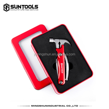 Hot-selling stainless steel tin box package multi tools and hammers
