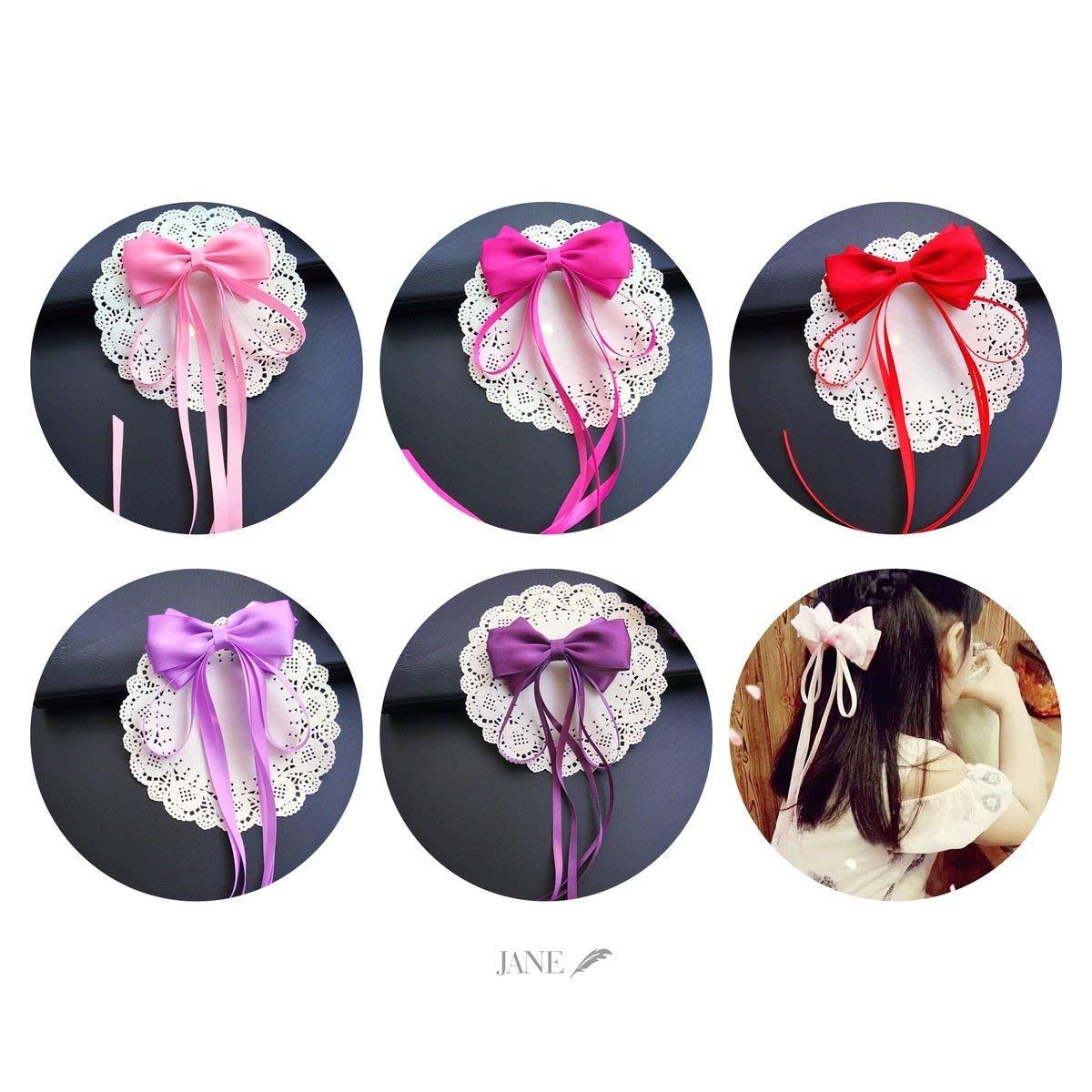usongs Custom handmade bow hair accessories hairpin fairy girl ribbon bow head flower color optional