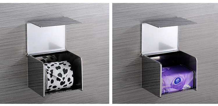 Dual type stainless steel 304 tissue toilet paper holder for bathroom