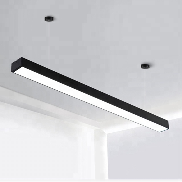 LED 관 Lamps 현탁 linear fixtures 18 와트 24 와트 36 와트 led 고정 편 광 대 한 Office