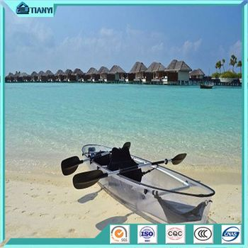 Person Ocean Summer Fishing Boat And Canoe Polycarbonate Clear