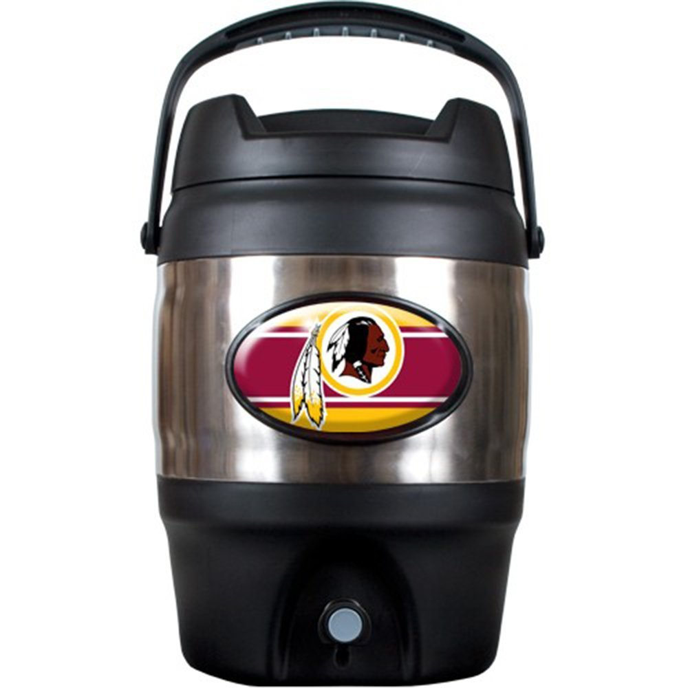 NFL Washington Redskins Stainless Steel Tailgate Jug, 3-Gallon