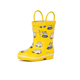 cute kids car print rainboots welly boots with hanger