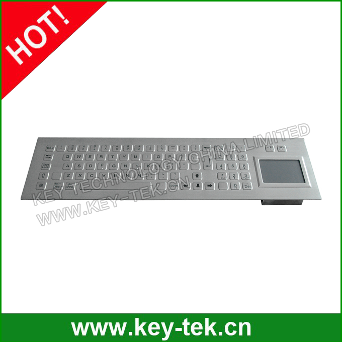 Short vandal proof keyboard with Numeric Keypad and rugged Touch pad