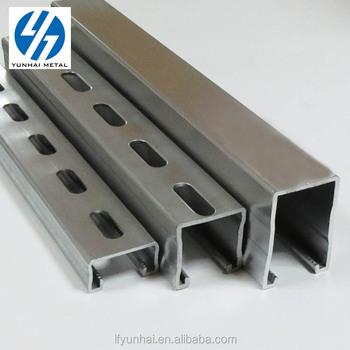 China Galvanized Sheet U Channel Steel 19ft 12GA factory