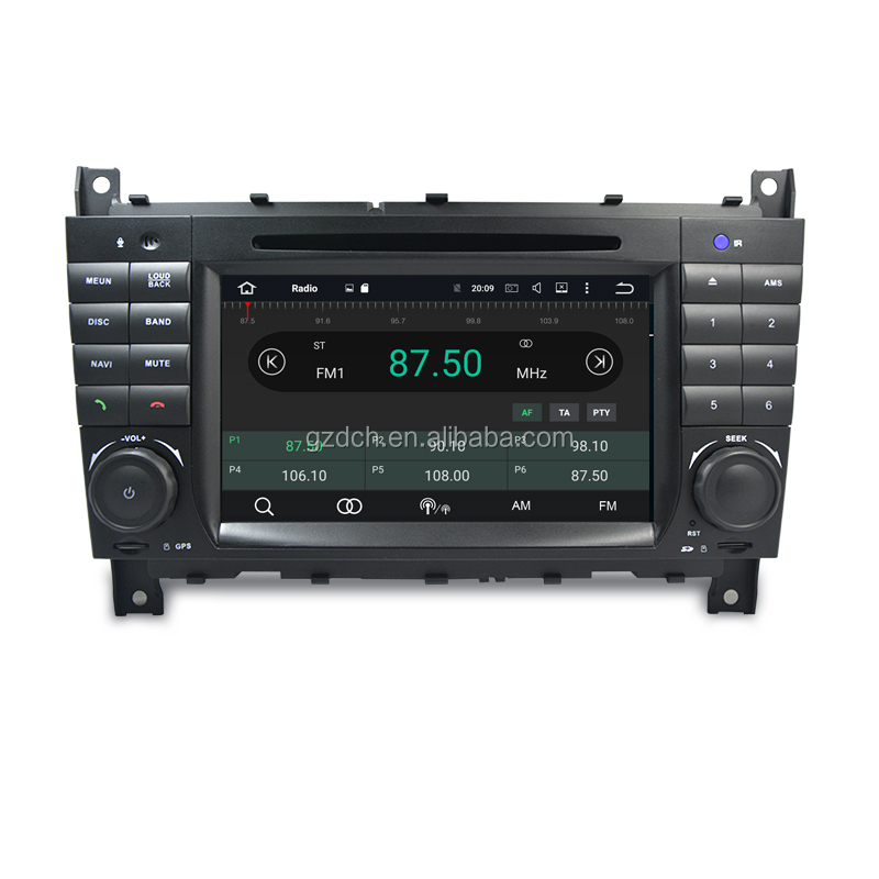 4G ram quad Core Android 9.0 Car DVD Player cho Mercedes Ben-z C CLS CLC CLK Lớp w203 W209 W219 GPS Đài Phát Thanh CARPLAY DSP