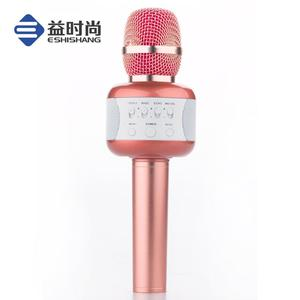 Best Quality Channel Wireless handheld Microphone with USB light for Karaoke KTV/Birthday party