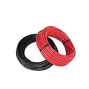 Black and Red 30' Bulk Solar Cable #10 AWG with Tough1000V XLPE Type Insulation