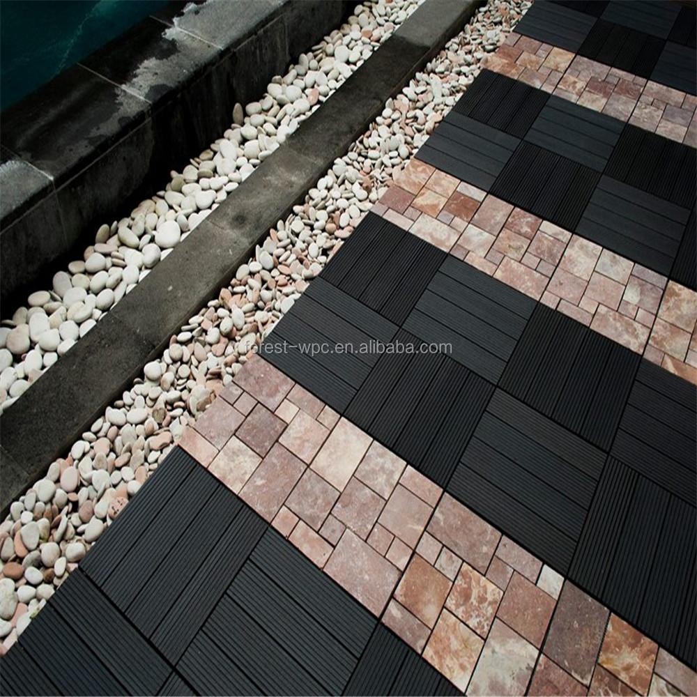 Interlocking Outdoor Tile Pool Deck Board Tile Backer Board View