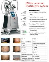 2016 new technogy 4 handles vacuum body cryolipolysis slimming machine , cavitation weight loss equipment.