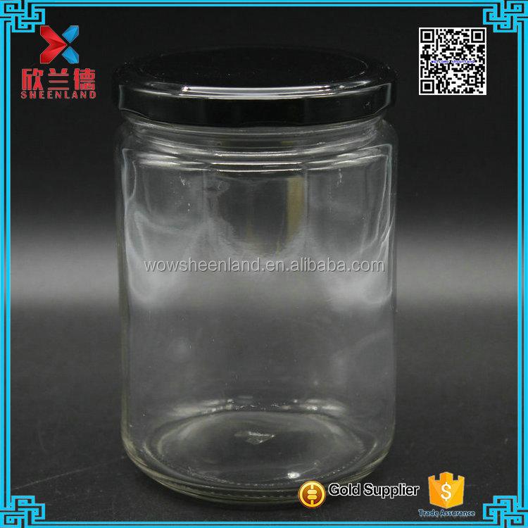 500 ml vaso di vetro con tappo di latta di prezzi di fabbrica