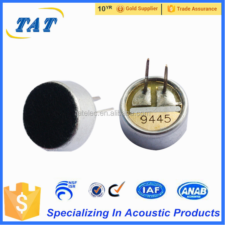 TAT M9745 9.7*4.5mm pins type unidirectional condenser microphone