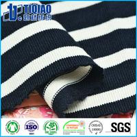 16s twisted yarn dyed knit cotton t shirt fabric