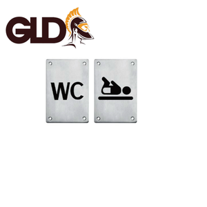 Gladiator male and female toilet door signs plate with screws RS05 RS06