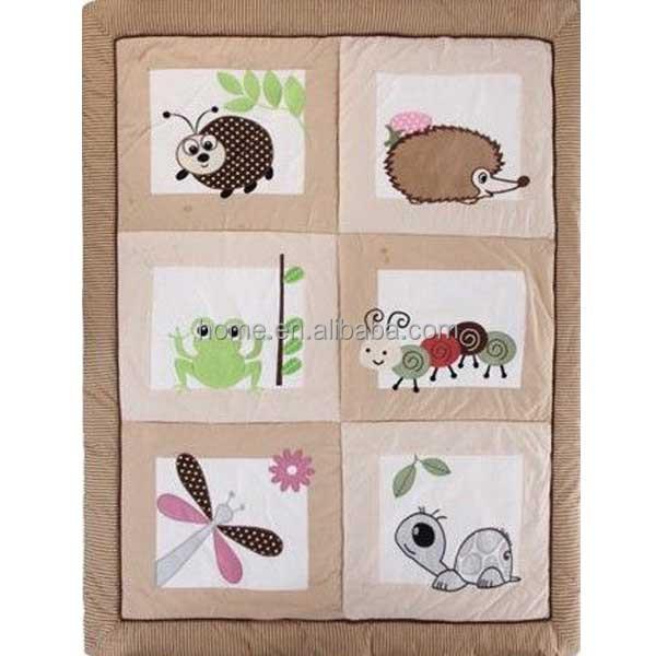 Patchwork Quilt Animal Applique Baby Blanket