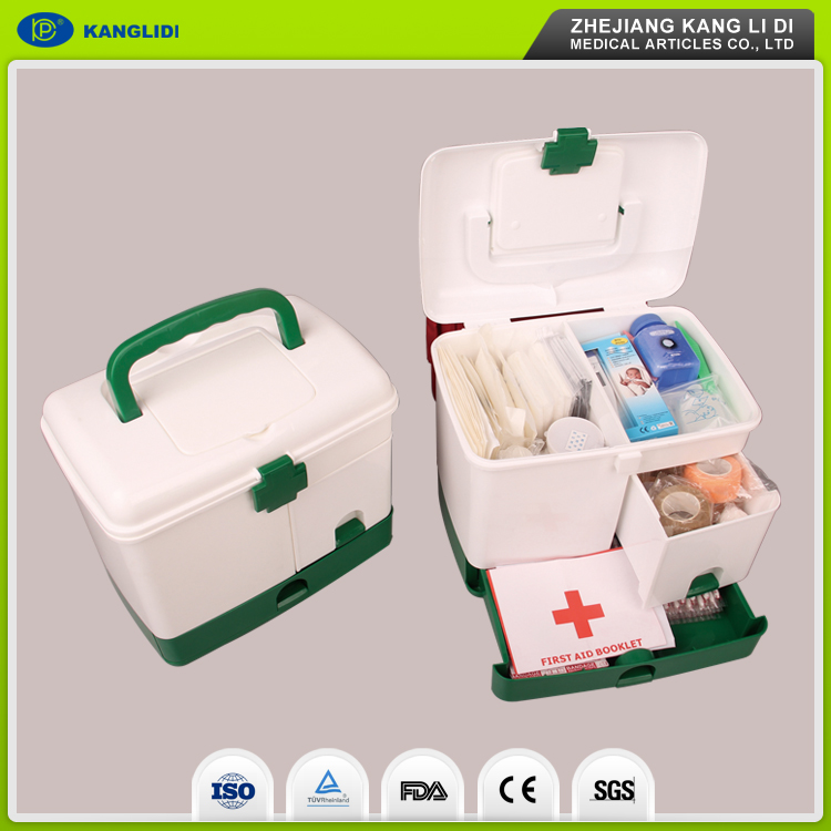KLIDI Useful and Durable Low Price Big White Plastic Packing Complete First Aid Kit