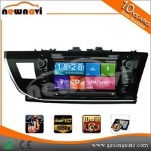 High amplifier double din TOYOTA Corolla RHD 2013- car dvd player with GPS BT IPOD DVR TV tuner AN/FM