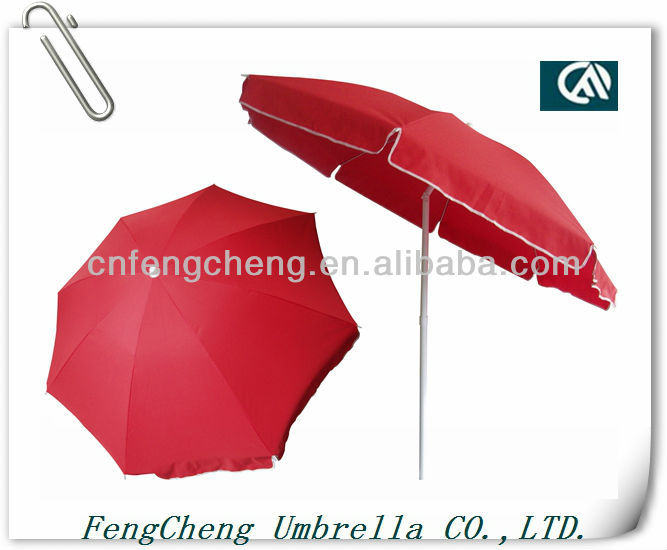 2.2m with 180g polyester with tilt promotional beach umbrella