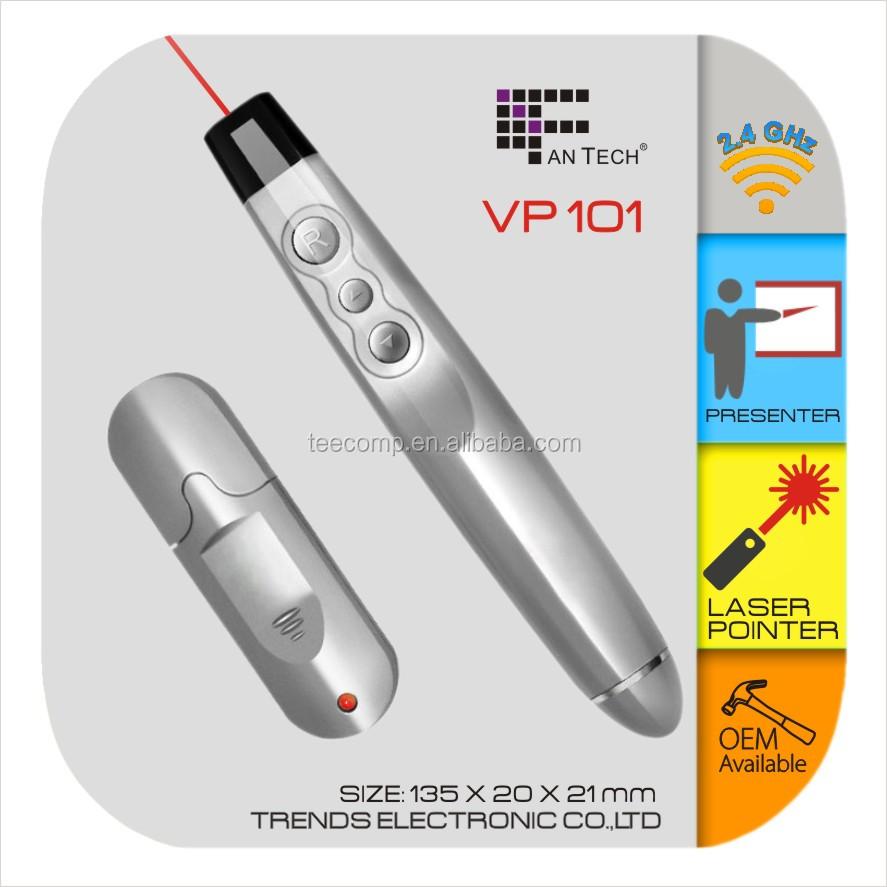 Vp101 Rf Wireless Presenter Puntero Láser Cambiador De ...