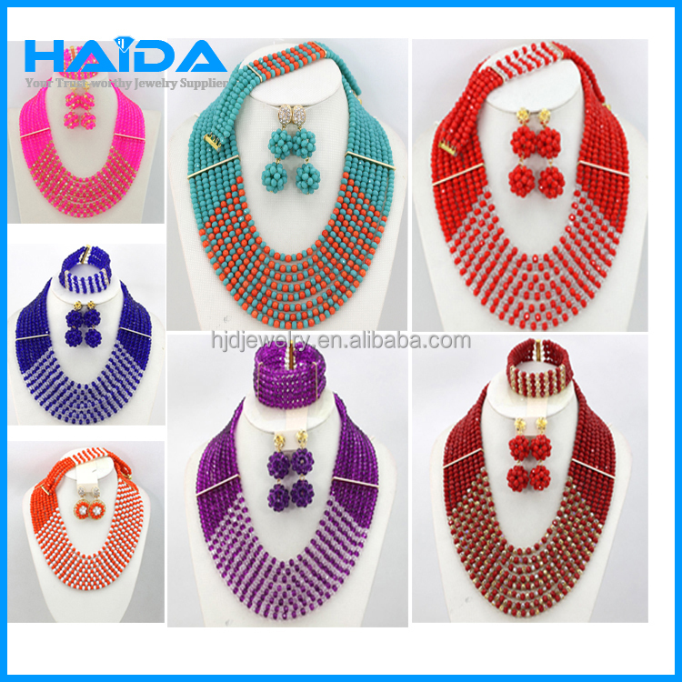 wholesale neclace set jewelry, coral beads necklace jewelry set