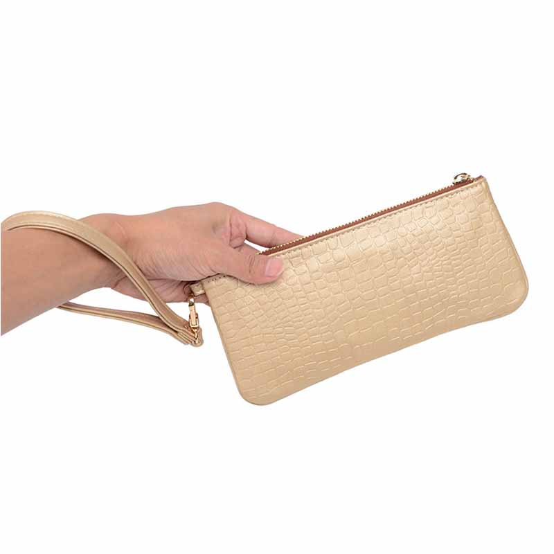 Factory wholesale Women Handbag Envelope Soft PU Leather women clutches Luxury Female Fashion Handbag Textured Hand Pouch
