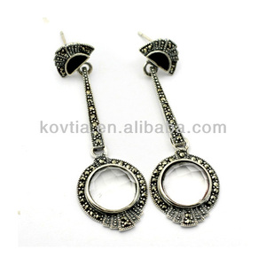 Antique design 925 thailand silver earring