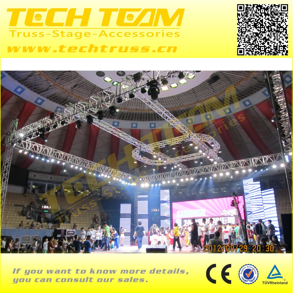 Aluminum triangle 290 truss , professional lighting stage truss