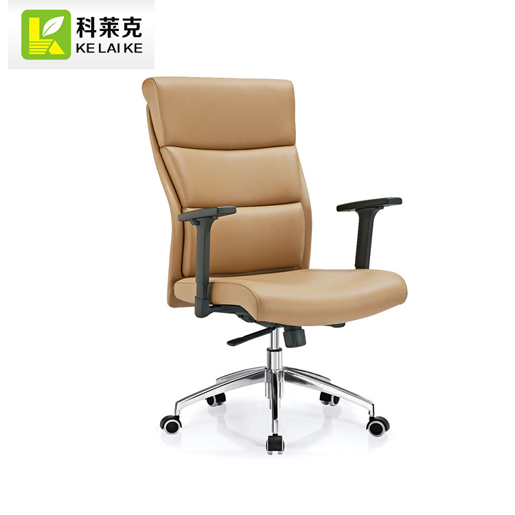 boss office Leather swivel seat height adjust Powder coating arms chair