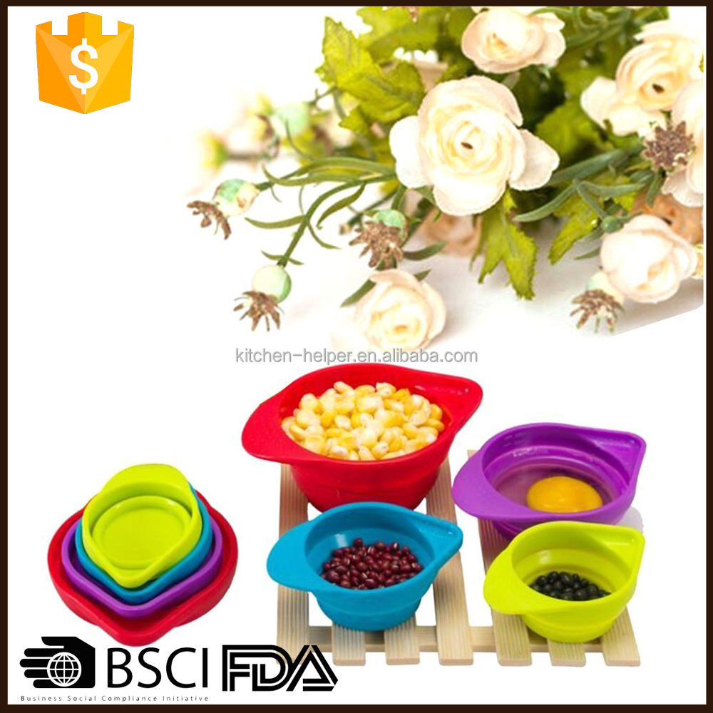 Factory Instock Portable Silicone Measuring Cups U0026 Spoons   Buy Portable  Silicone Measuring Cups U0026 Spoons,Measuring Cups U0026 Spoons,Silicone Measuring  Cups ...