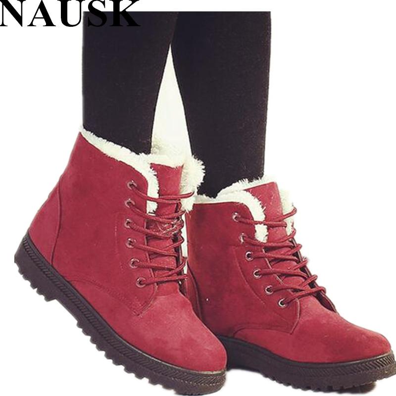Snow boots winter ankle boots women shoes plus size shoes ...