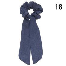 Женский шарф для волос в горошек, эластичная лента для волос с цветочным принтом и бантом, аксессуары для волос, 2019(Китай)