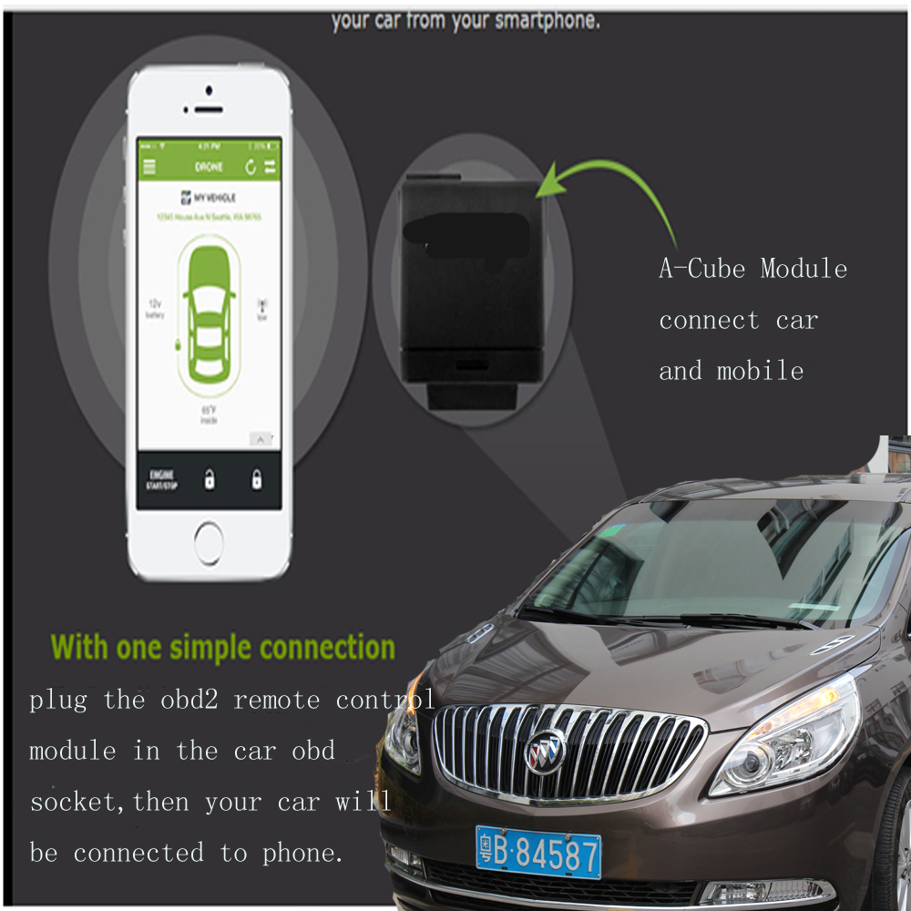 2015 New Car Electronics A Cube App Car Starter With A Cell Phone