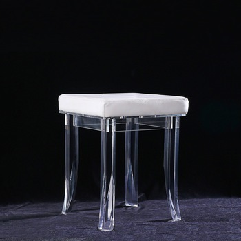Foot Spa Stool Factory Cheap Clear Acrylic Stool Plastic