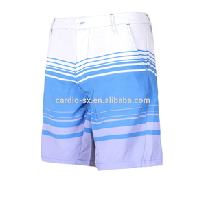 Mens custom sublimation print 4 way stretch mens blank board shorts wholesale