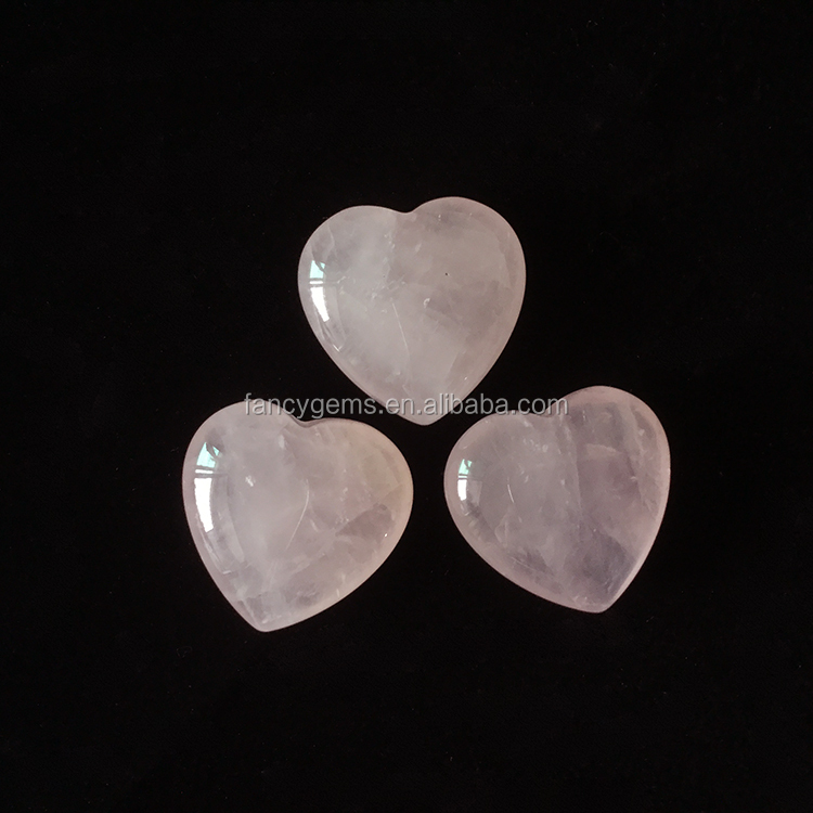 Wholesale Charming Rose Quartz Crystal Heart for Pendant,Heart Shaped Rose Quartz Stone