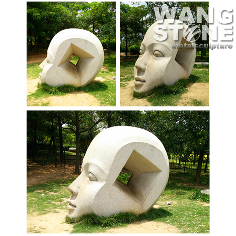 Outdoor Decoration Big Face Modern Statue