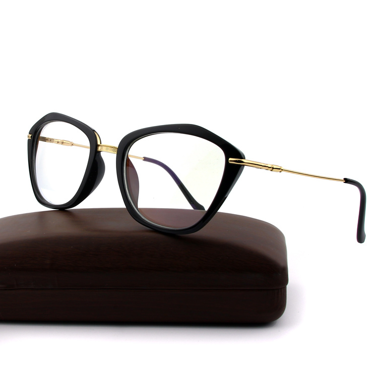 7e4a501560 Buy NEW high quality Italy brand design Optical frames women UV400 Cat eye  Clear Lens glasses computer eyewear black Gold blue metal in Cheap Price on  ...