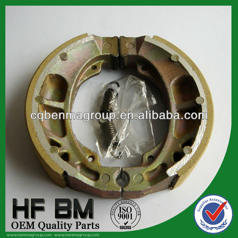 brake shoe with spring, after market replacement brake shoe