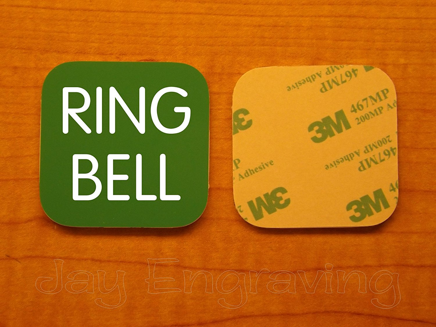 Get Quotations Engraved 3x3 Inch Ring Bell Adhesive Backed Plate Door Name Tag Sign