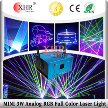 stage laser show system mini 3w analog full color rgb laser disco lights