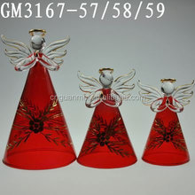 Creative LED glass angel handicraft