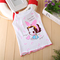 Summer Tank Girl T Shirt 2016 Brand Children Clothing Solid Cotton Casual Girls T Shirts Baby