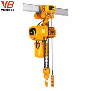 High efficiency hanging outdoor non spark electric chain hoist used with trolly