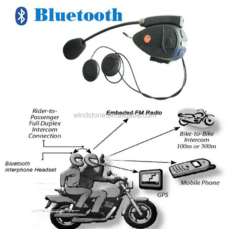Bluetooth Handsfree Intercom Moto Kit Headphone Motorcycle Bluetooth Helmet