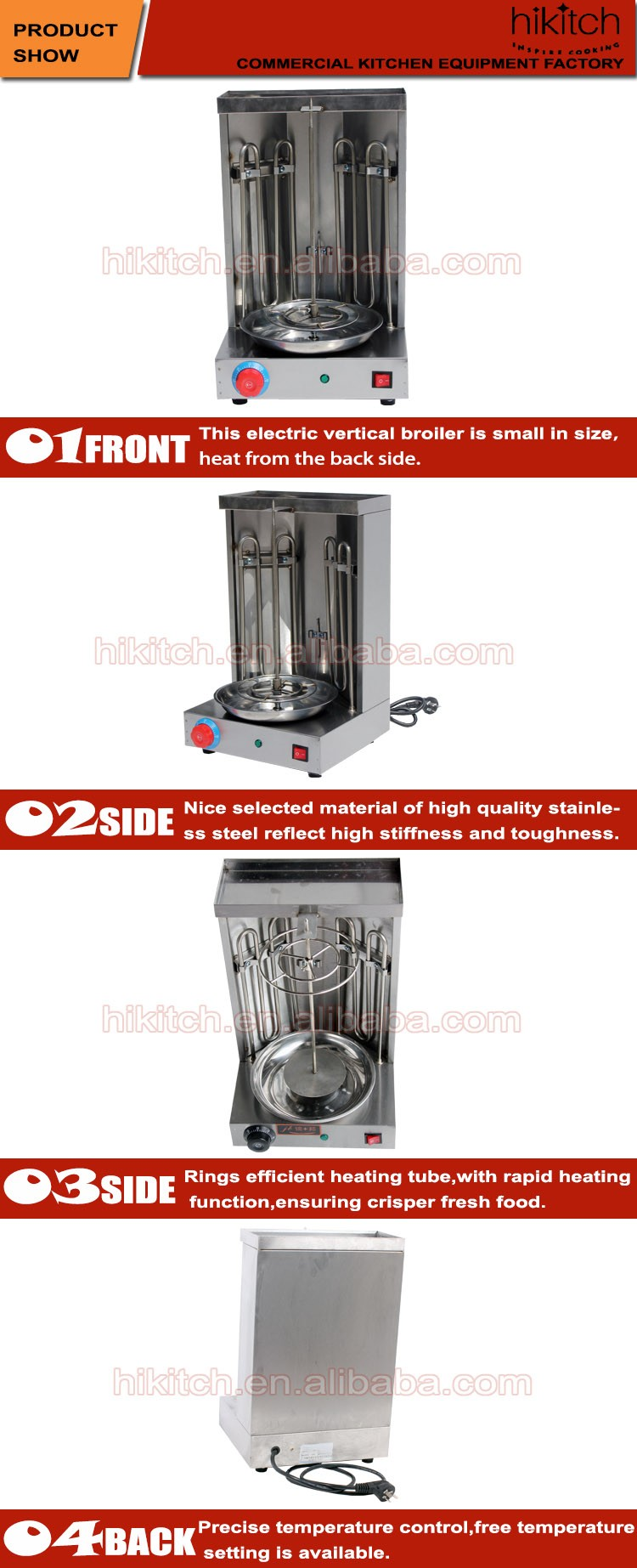 Electric Table Top Veritical Shawarma Machine Kebab Roaster Grill ...