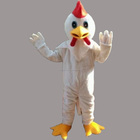High Quality White Chicken Big Cock Mascot Costume Adult Size