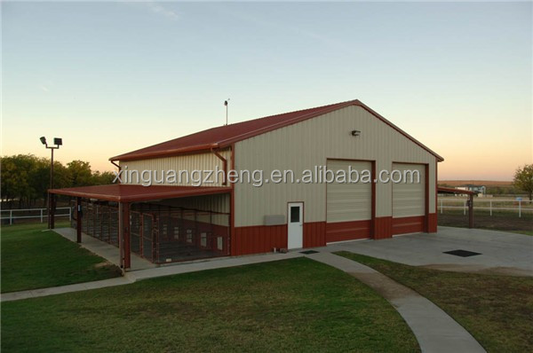 construction design light steel structure horse shed