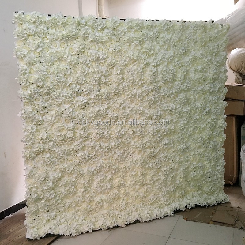 Event And Wedding Silk Rose Hydrangea Flower Wall Backdrop Wholesale